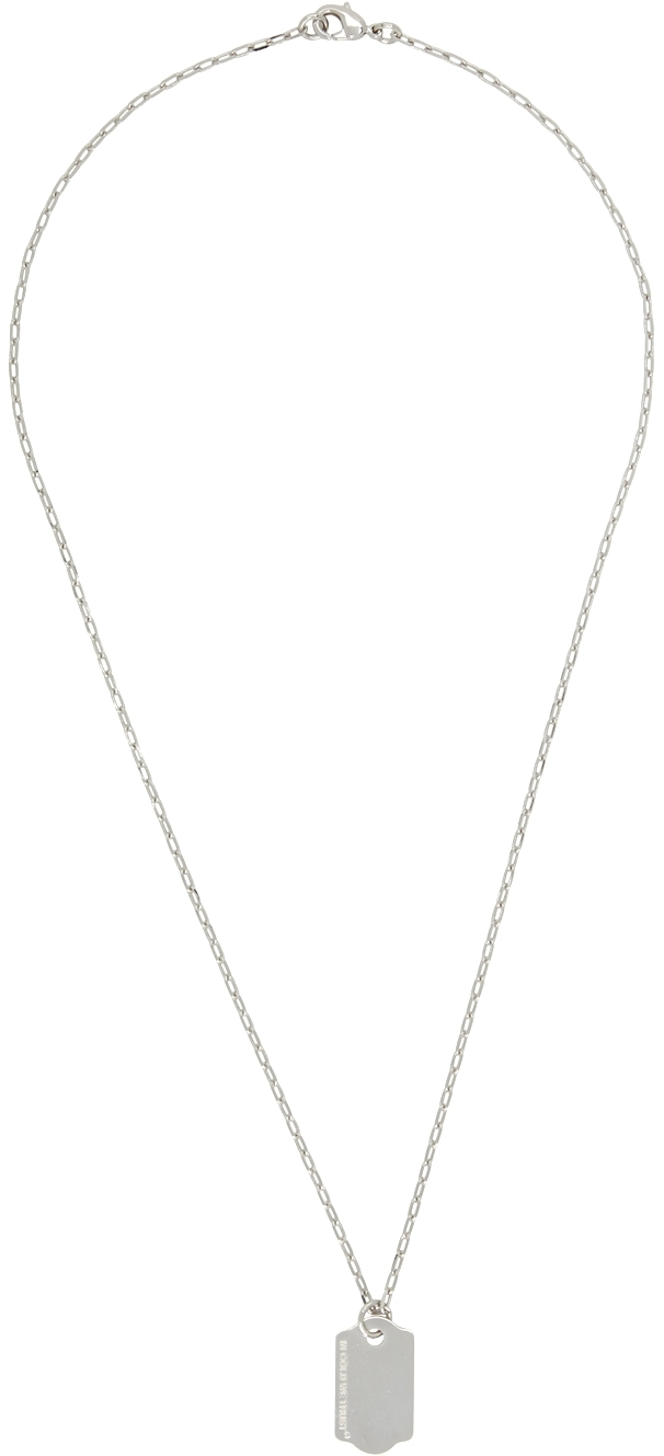 Silver Price Tag Necklace