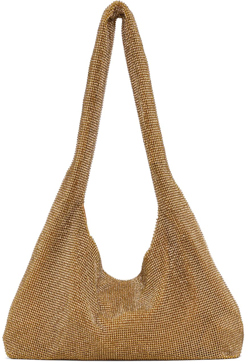 Gold Crystal Mesh Armpit Bag