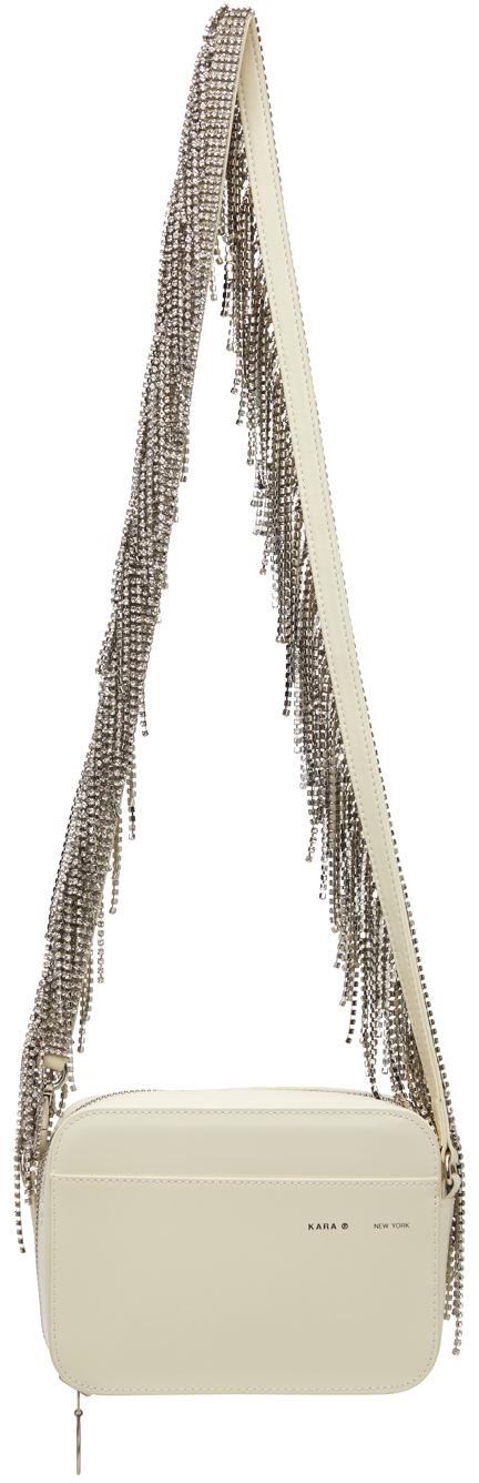 Off-White Crystal Fringe Camera Bag