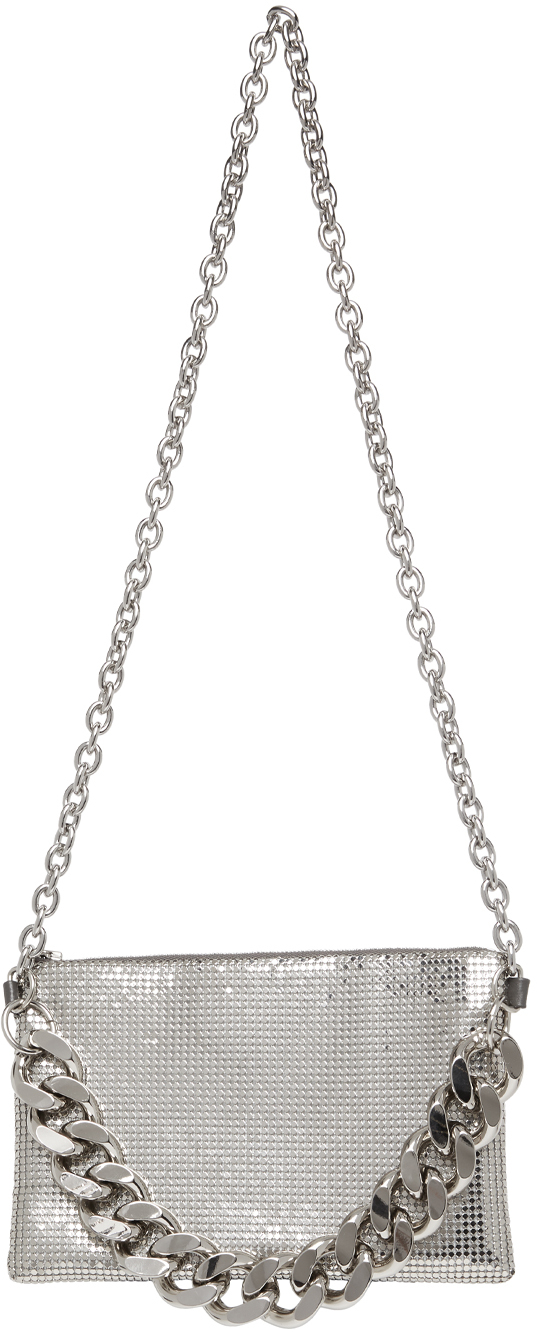 SSENSE Exclusive Silver Chain Mail Crossbody Bag
