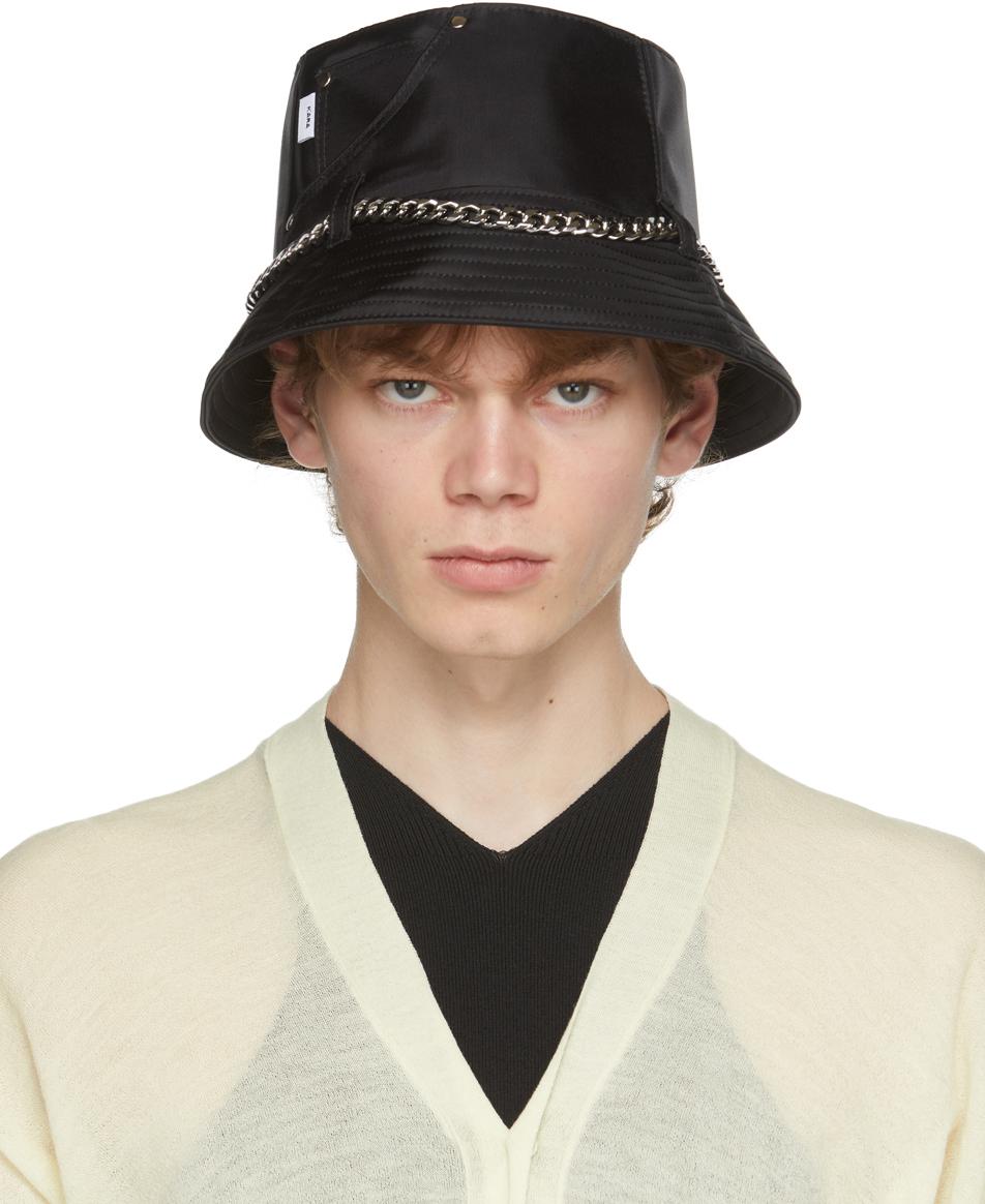 SSENSE Exclusive Black Jean Bucket Hat