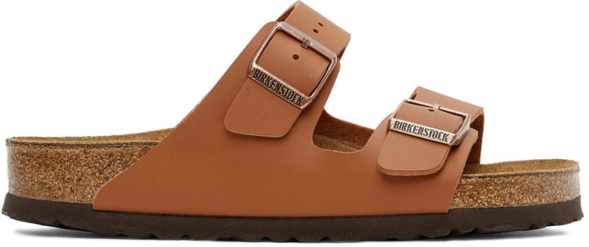 Orange Birko-Flor Arizona Sandals