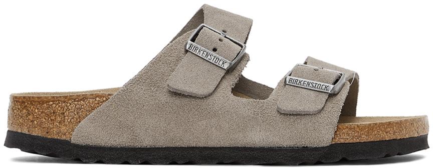 Grey Suede Arizona Sandals
