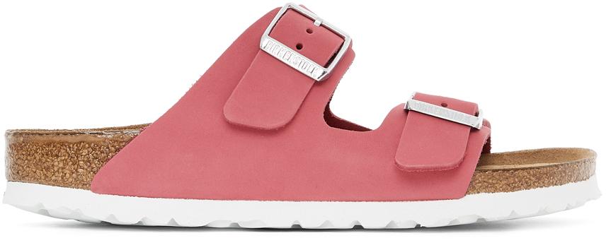 Pink Nubuck Narrow Arizona Sandals