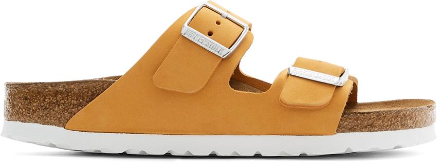 Orange Nubuck Narrow Arizona Sandals