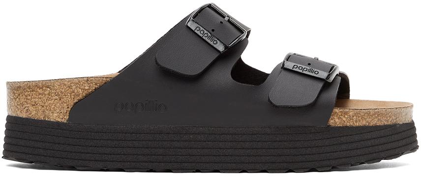 Black Papillio Birko-Flor Narrow Arizona Platform Sandals