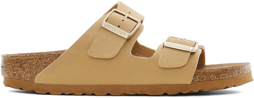 Tan Birkibuc Narrow Arizona Sandals