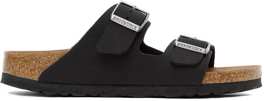 Black Birkibuc Narrow Arizona Sandals