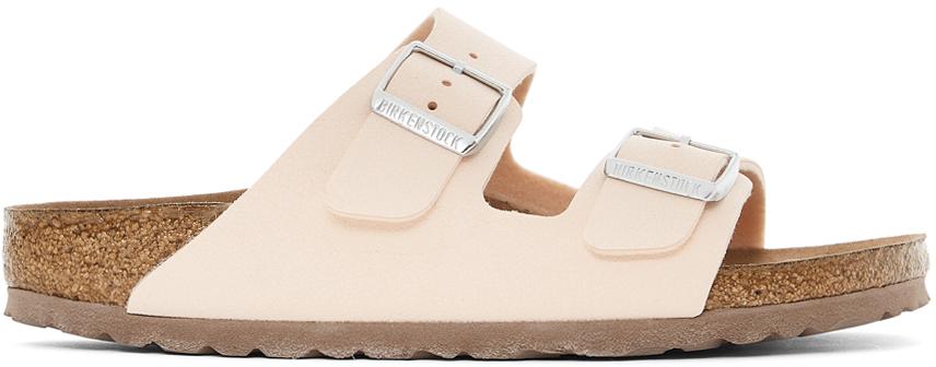 Birkenstock Pink Birkibuc Arizona Sandals