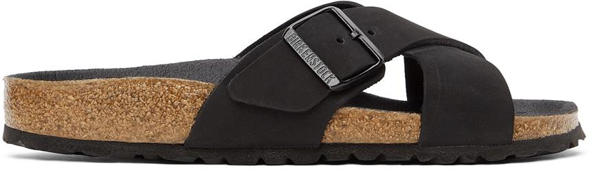 Black Nubuck Narrow Sienna II Sandals