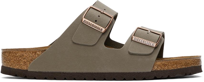 Taupe Birkibuc Arizona Sandals