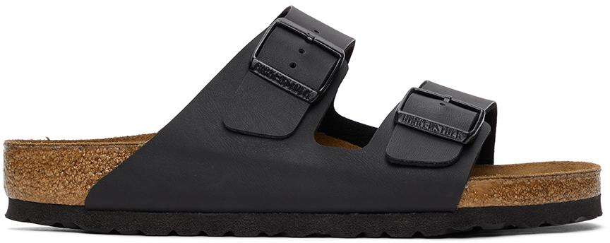 Black Birko-Flor Arizona Sandals