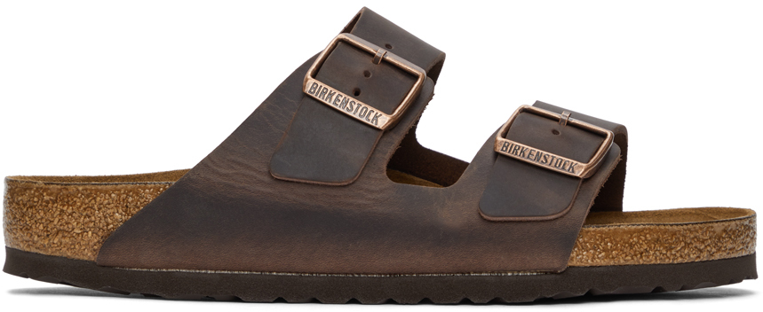 Brown Leather Arizona Sandals