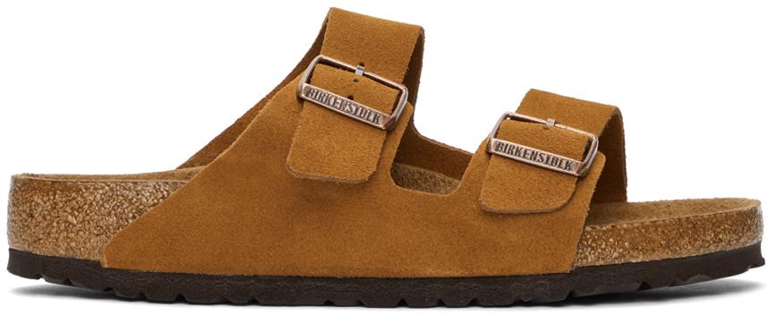 Tan Suede Soft Footbed Arizona Sandals