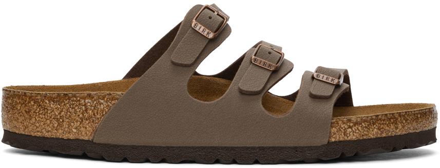Brown Birkibuc Soft Footbed Florida Sandals