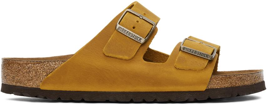 Yellow Leather Arizona Sandals