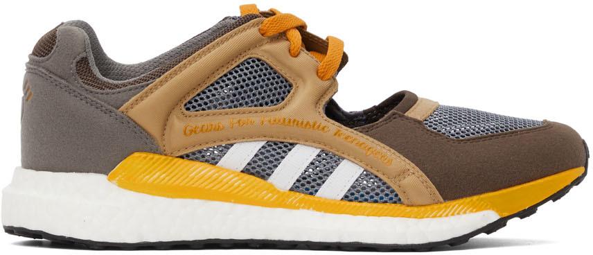Brown & Grey EQT Racing Sneakers