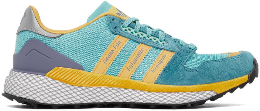 Blue & Yellow Questar Sneakers