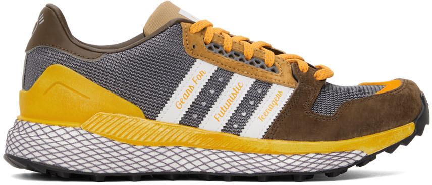 Brown & Grey Questar Sneakers
