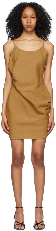 Yellow Linen Mini Dress