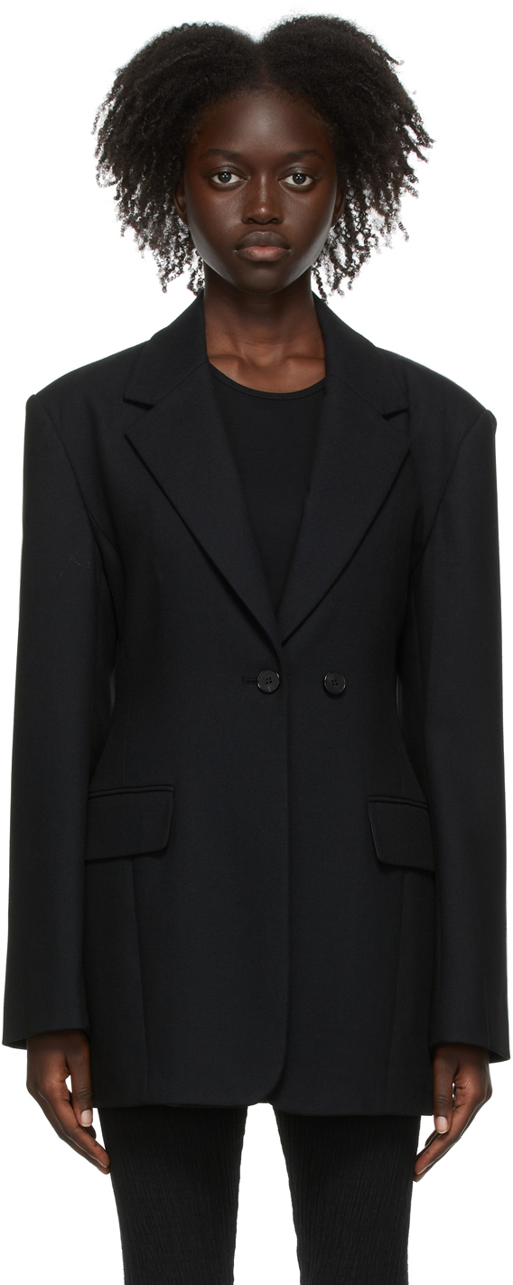 Black Wool Bella Blazer