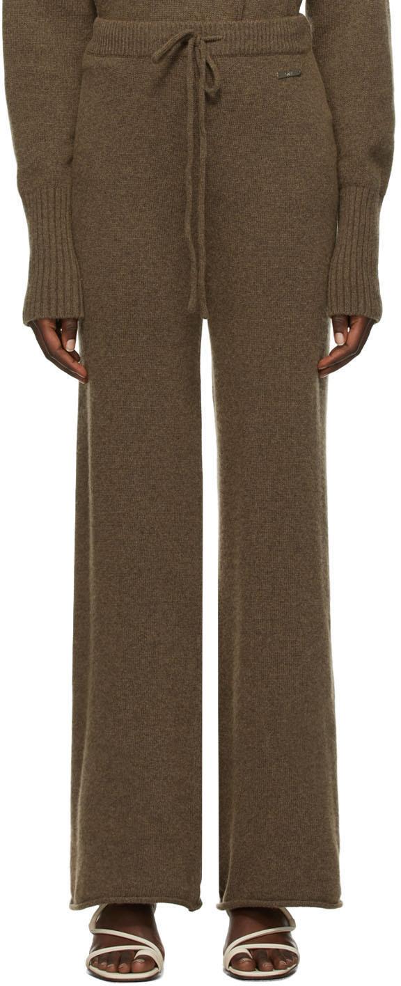 Brown Knit Deen Lounge Pants