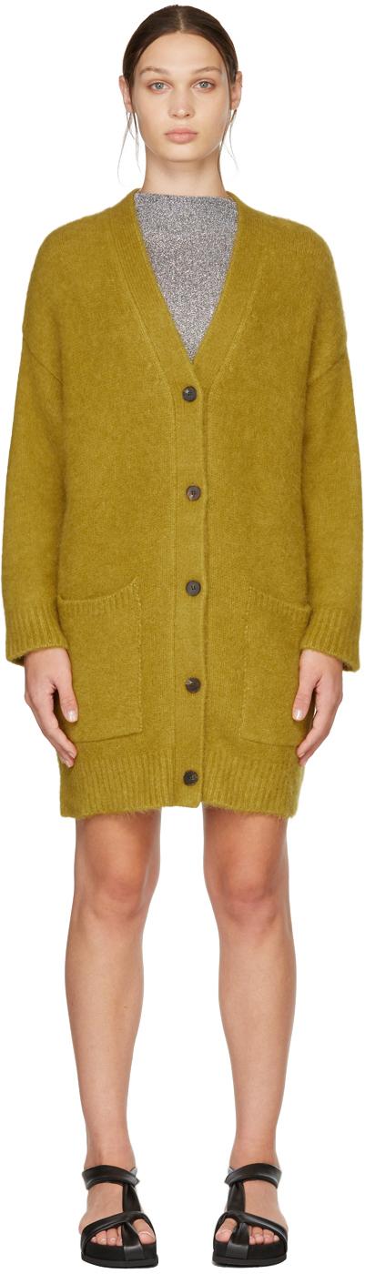 Yellow Alpaca Cardigan