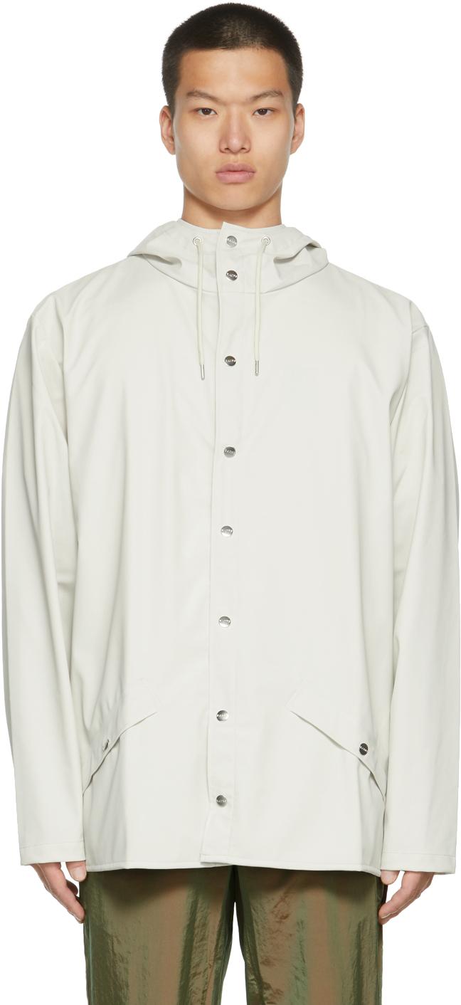 RAINS Off-White Rain Jacket