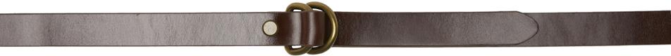 Brown D-Ring Belt