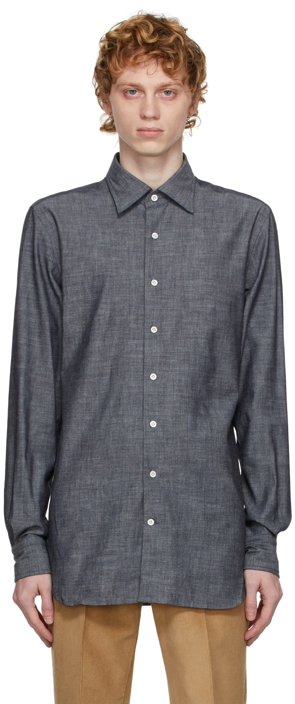 Grey Classic Chambray Shirt