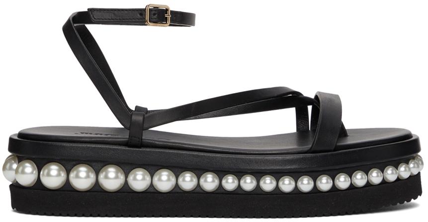 Black Pine Flat Sandals