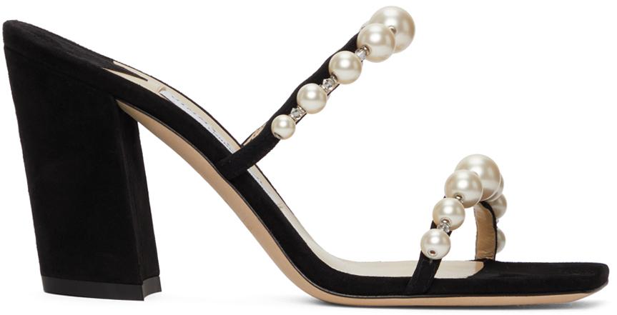 Black Amara 85 Sandals