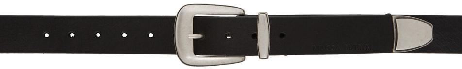 Black Modern Western Belt