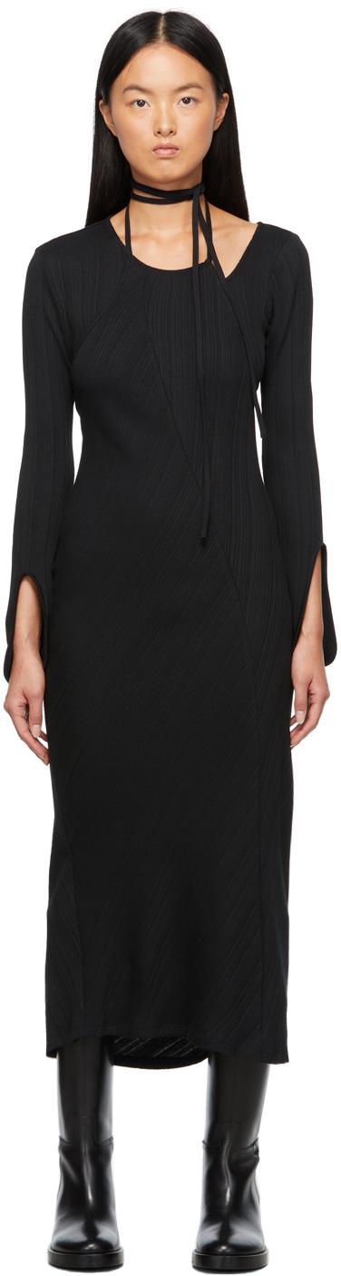 Black Rib Jersey Dress