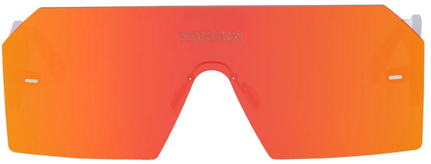 Transparent & Red RETROSUPERFUTURE Edition Visiones Sunglasses