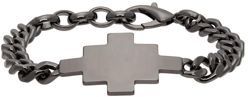 Gunmetal Cross Bracelet