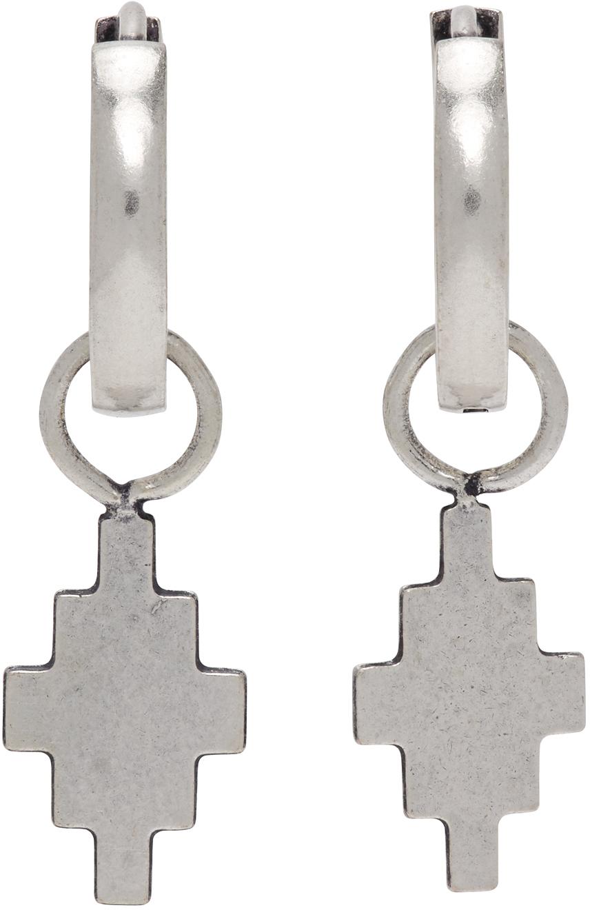 Silver Cross Pendant Earrings