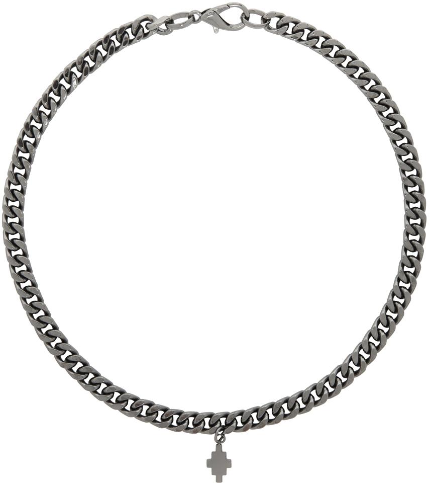 Gunmetal Cross Necklace