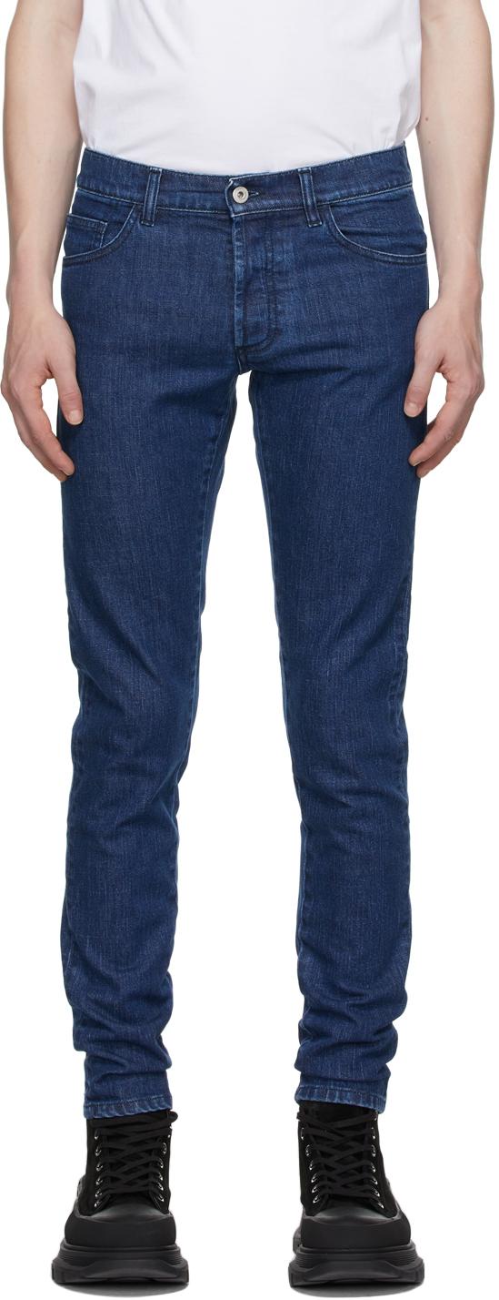 Blue Slim Cross Jeans