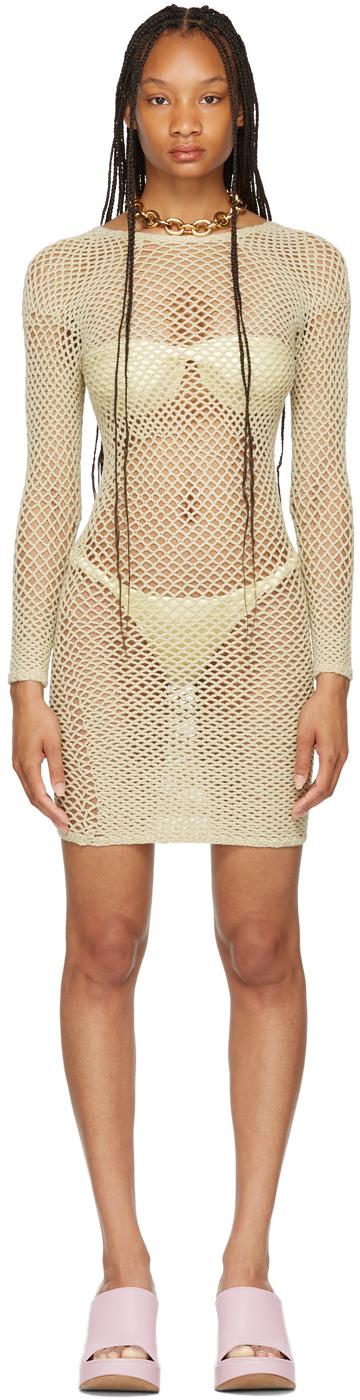 SSENSE Exclusive Beige Crochet Scan Dress