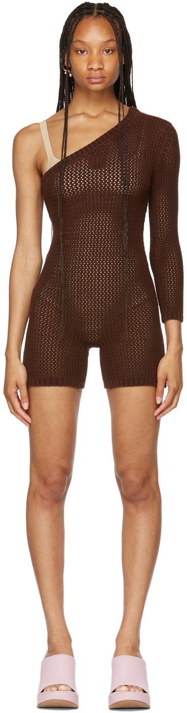 SSENSE Exclusive Brown Sideways Jumpsuit