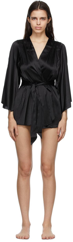 Black Angel Sleeve Robe