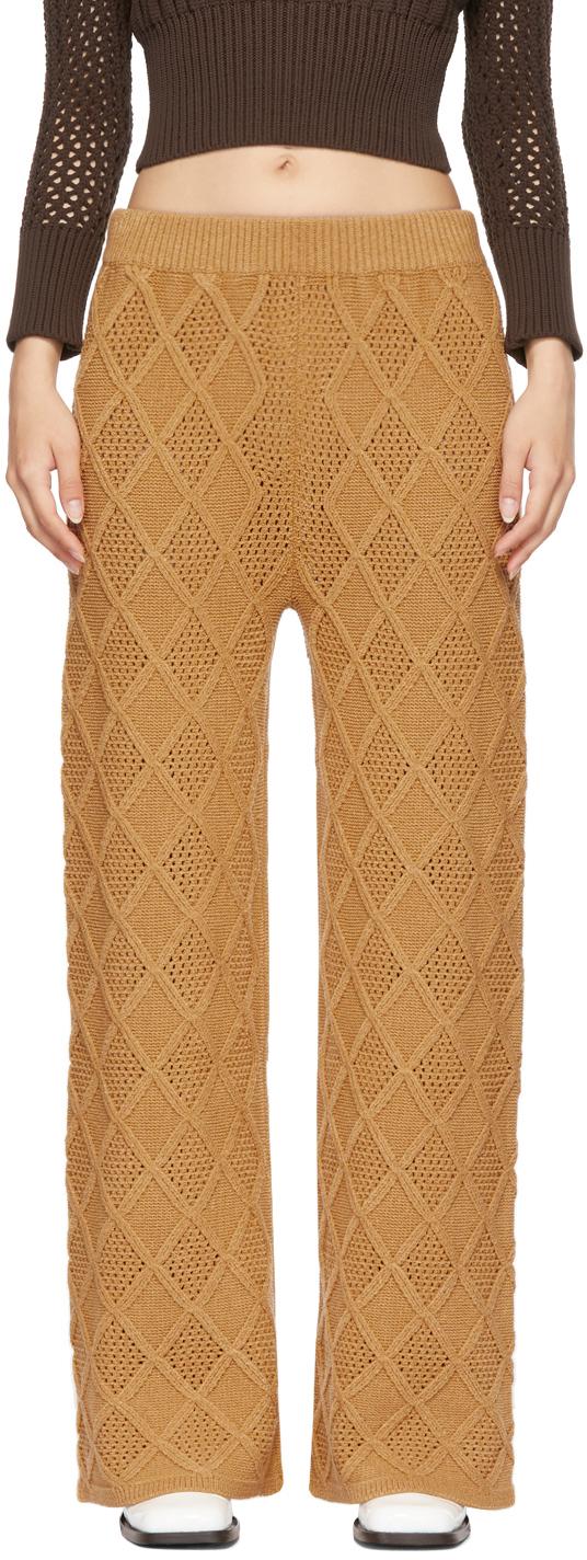 SSENSE Exclusive Tan Wafer Lounge Pants