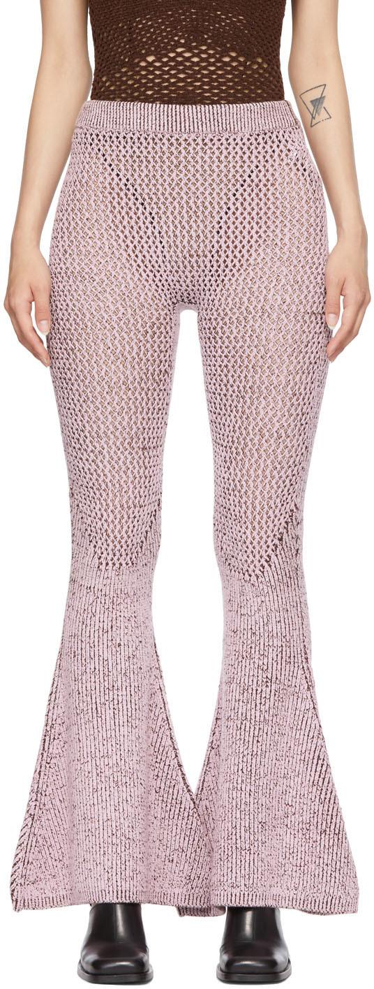 SSENSE Exclusive Pink & Purple Through Flared Lounge Pants