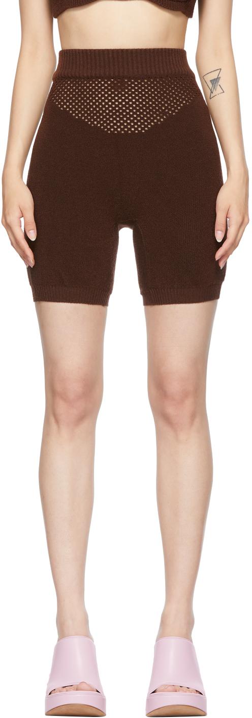 SSENSE Exclusive Brown Arcade Biker Shorts