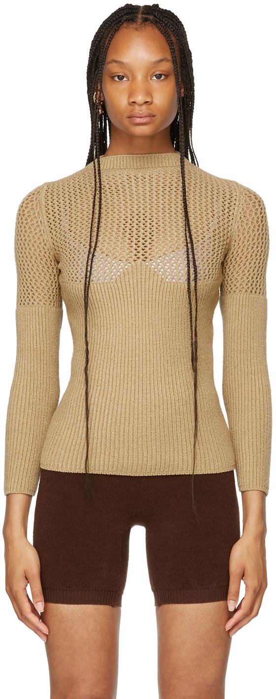 SSENSE Exclusive Beige Otherway Long Sleeve Sweater