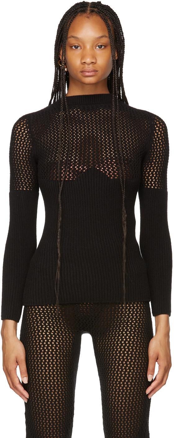 SSENSE Exclusive Black Otherway Long Sleeve Sweater
