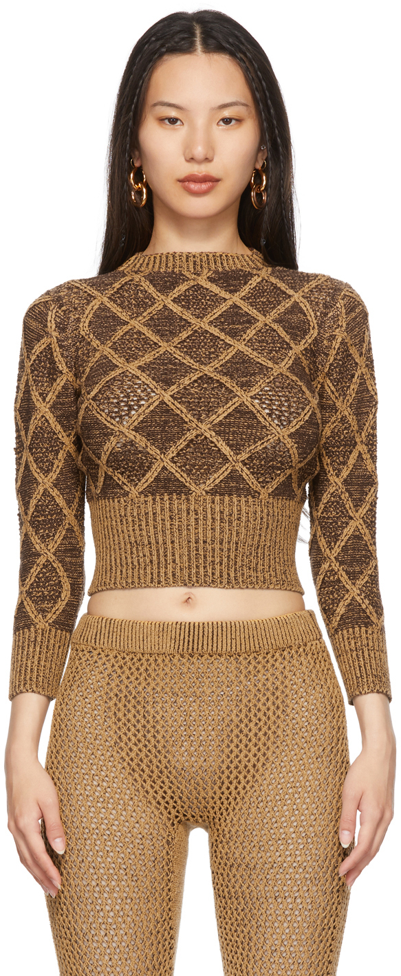 SSENSE Exclusive Brown & Tan Wafer Sweater