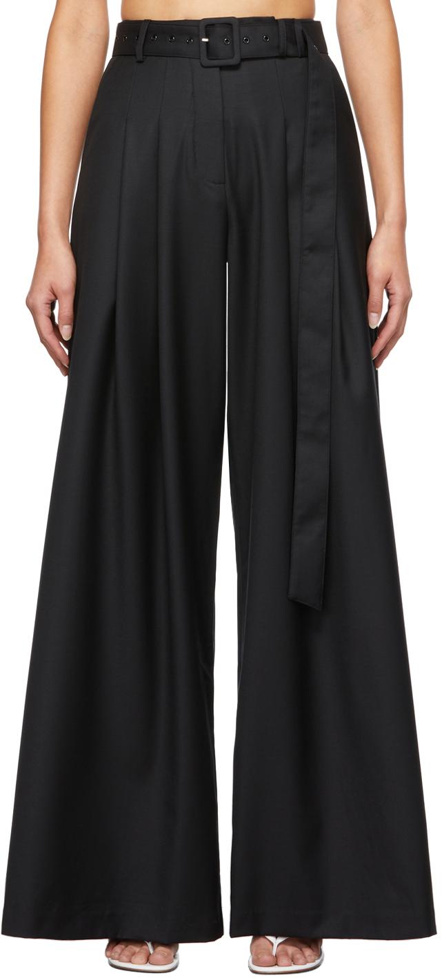 Black Wool Carlos Trousers