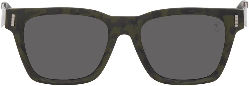 Khaki & Silver BS13011 Sunglasses